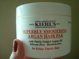 Kiehl´s superbly smoothing argan hair pak