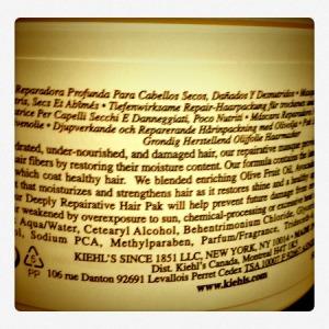 Olive Fruit Oil Deeply Repairative Hair Pak de Kiehl's
