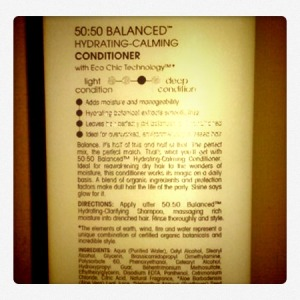 50:50 balanced hydrating- calming conditioner
