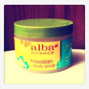 alba botanic sea salt body scrub